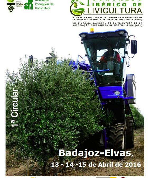 Los días 13, 14 y 15 de abril de 2016 se celebra en Badajoz el I Congreso Ibérico de Olivicultura.